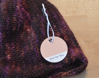 Warm Colors, Round Gift Tags for Hand Knits, Printable