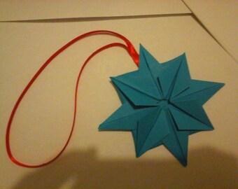 Set of 5 stars blue origami