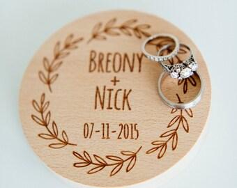 Personalized ring bearer box, wedding ring box, rustic ring bearer box, ring bearer pillow, wooden ring box, custom engraved ring bearer box