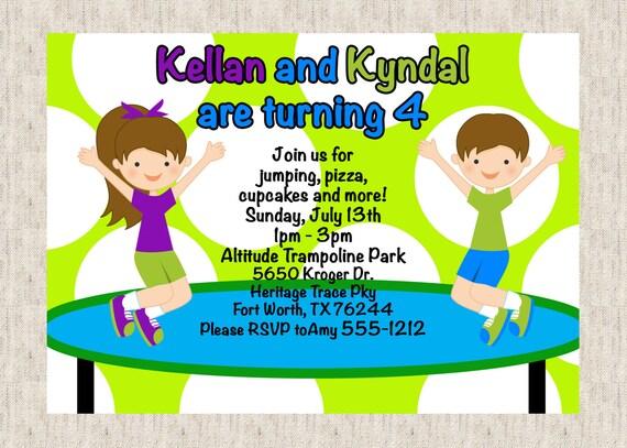 trampoline birthday party invitation wording Josemulinohouseco