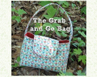 The Grab and Go Bag PDF Sewing Pattern and Tutorial - Small Bag Purse - Women Children - Beginner - Small - Instant Download