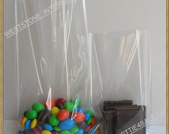 25pcs 5 in x 8 in crystal clear cello bag