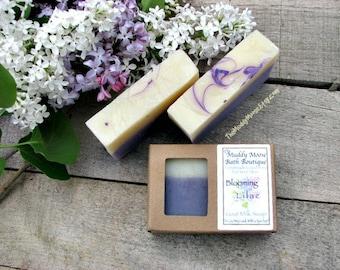 Lilac Soap - Vegan Soap - Wedding Soap - Wedding Favor Soap - Hostess Gift - Lilac Scented Soap - Wholesale Soap - Artisan Soap - ONE BAR