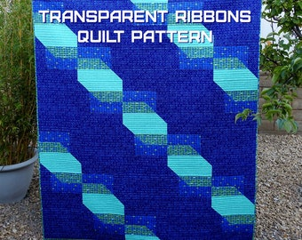 Transparent Ribbons Quilt Pattern - A Pattern Digital Download (PDF) by Quilting Jetgirl
