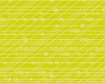 Alison Glass - Diving Board - Latitude in Seaweed - (A-8639-G) - 1/2 Yard++