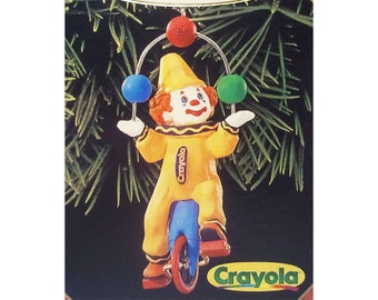 Clown Christmas Ornament Hallmark Keepsake Crayola Crayon Series 11 Clownin' Around 1999 NIB