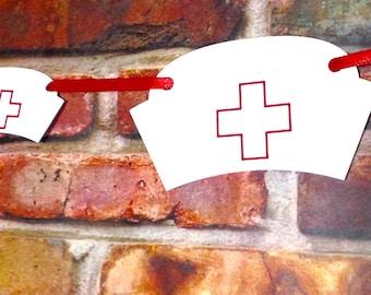Registered Nurse Hat Banner, Registered Nurse Graduation Party, RN graduation party, Graduation banner, Nursing graduation party