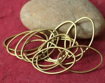 Solid brass oval link size 26x16mm, 10 pcs (item ID HTYO)