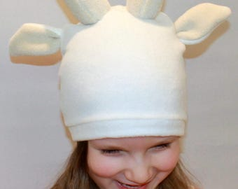 Goat hat / Kids goat costume / Adult goat costume / goat dress up / handmade costume / Halloween costume