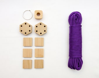 Adult craft kit etsy diy macrame kit for beginners do it yourself plant hanger set crafts gift idea for adult solutioingenieria Image collections