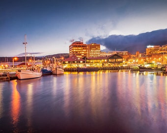 Hobart Waterfront. Available as Metal, Glass, Canvas or Framed print