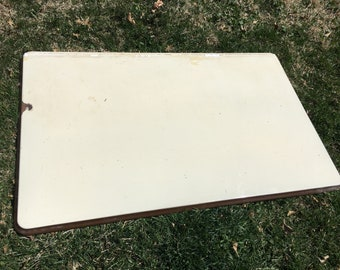 Vintage Porcelain Enamel Table Top For repurpose or Assemblage