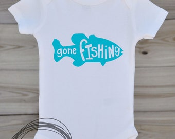 Gone Fishing // Baby Apparel, Toddler Shirts, Trendy Baby Clothes, Cute Baby Clothes, Baby and Toddler Clothes