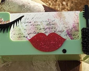 I Love Make Up  Business Card Holder