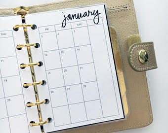 Pocket Size Planner Inserts - Monthly