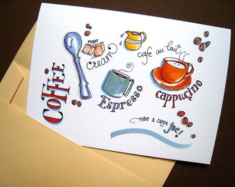 Coffee Gift Note Cards Drinker Boxed