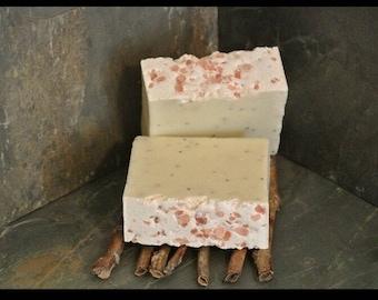 Salted Lemon Poppy Seed Soap Bar