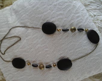Exotic wood beads necklace