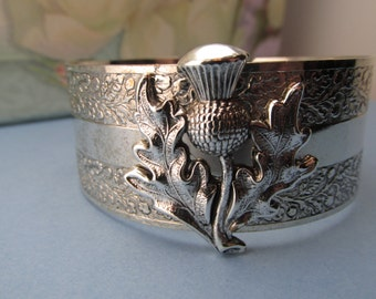 Outlander Jewelry Scottish Thistle Silver Cuff Bracelet Top Selling Shops Top Seller My ElegantThings MyElegantThings