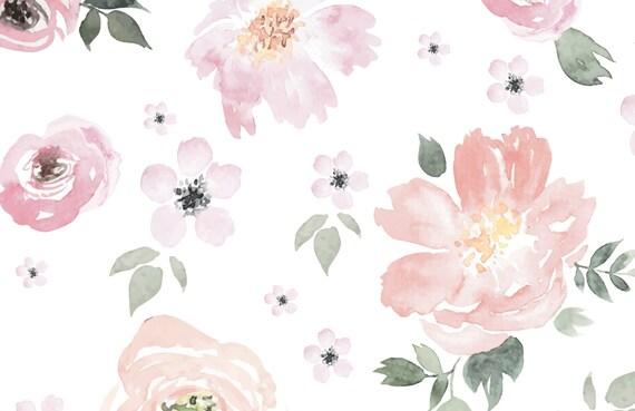 Jolie Floral Large Mural Wallpaper Watercolor Wall Mural