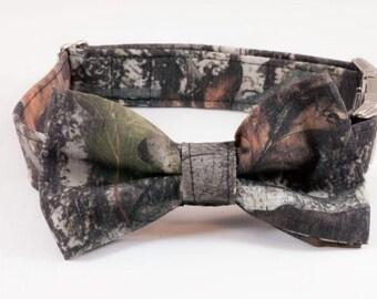 Camo Dog Bow Tie Dog Collar, Camouflage Dog Bow Tie Collar, Dog Bowtie Collar, Southern Dog Collar, Hunting Dog Collar, Custom Dog Collar