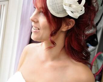 Ivory Sinamay Bridal Fascinator