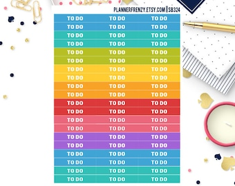 48 To Do Section Header Planner Stickers! SB324