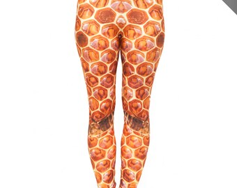 Bees Knees Honeycomb Leggings ** 5% of each sale is Donated to Project Bee Foundation **