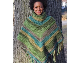 GREEN GODDESS PONCHO. available in different size.