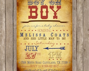 Western Baby Shower Invitation Western Baby Shower Boy