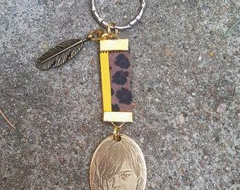 Porte-clé  avec médaille à graver