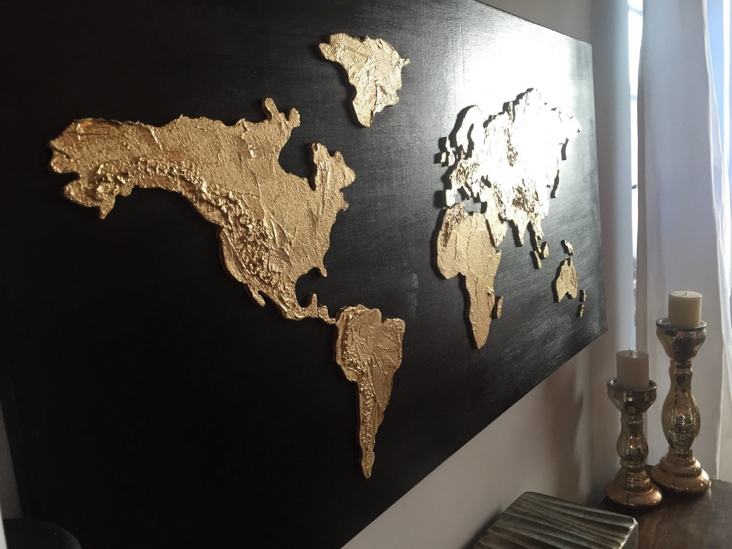 World Map Painting - Large world map painting