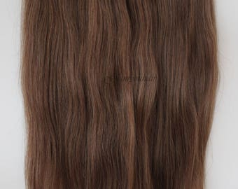 """16"""" 100G HALO-miracle Secret - wire 100% Human Hair extensions/ 100G/ WOW!! Colour 6 Chestnut brown."""