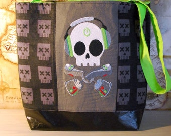Gamer Skully Tote Bag (Free Shipping)
