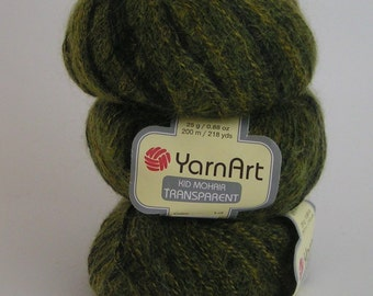 yarn kid mohair YarnArt TRANSPARENT CLEARANCE Sale 25 grams approx 218 yards 200 meter knitting color 3 superfine