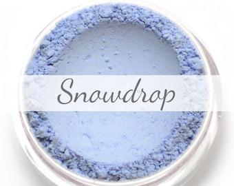 "Eyeshadow Sample - ""Snowdrop"" - matte light blue - all natural mineral makeup"
