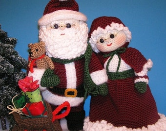 Pdf Crochet Pattern MR and MRS SANTA (English only)