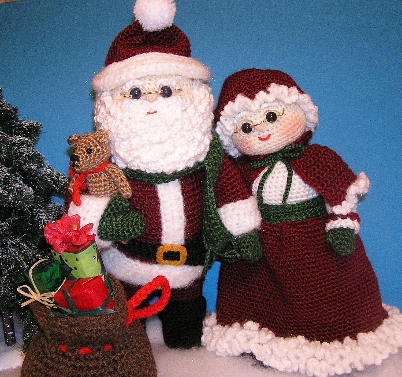Pdf Crochet Pattern MR and MRS SANTA English only