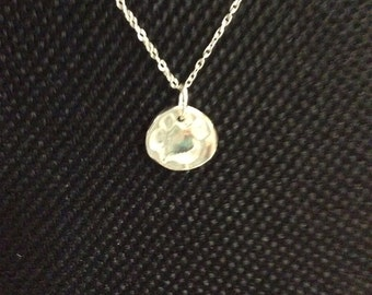 Paw print fine siver charm necklace