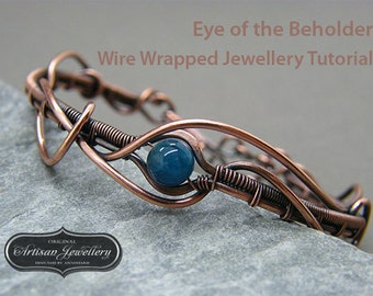 Wire wrap jewelry tutorial ~ Wire wrapped jewellery ~ Wire tutorial ~ Handmade jewellery instructions ~ Wire wrapping ~ Instant download ~