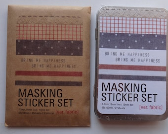 27 Sheets Masking Sticker set VER.FABRIC