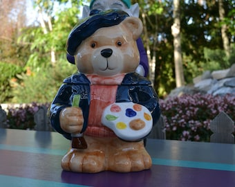 Artist Bear Cookie Jar