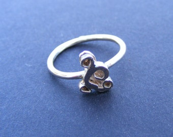 sterling silver doodle ring