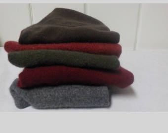 Upcycled Felted Cashmere Sweater Pieces - Darks