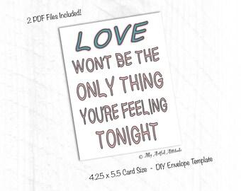 PRINTABLE Card, Naughty Girlfriend Valentine Card, Funny Boyfriend Card, Dirty Birthday Card, Sexy Card For Wife