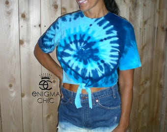 Tie Dye Crop Top by Enigma Chic