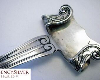 Rare Art Nouveau (c1880) Antique Silver Plated Dish Holder Gripper Handle. Late 19th-century.