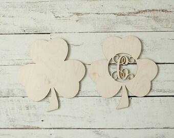 Shamrock Cutout Wreath Making Supplies Shamrock Saint Patricks Day Sign Door Hanger