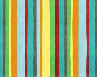 Think Positive Stripe fabric in Blue by Jennifer Nilsson for Elizabeth's Studio
