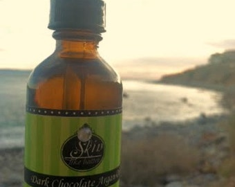 Dark Chocolate ORGANIC ARGAN OIL ||  Cold Pressed || Available in a 2 or 4 oz glass bottle || Luxurioius Body Oil  and Hair Oil